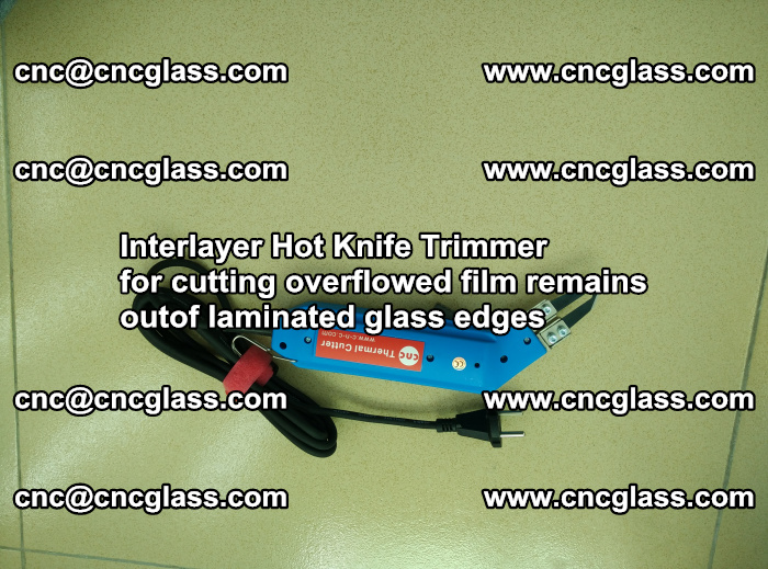 Interlayer Thermal Cutter for trimming overflowed glass interlayer glues after safety glazing (1)