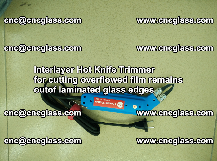 Interlayer Thermal Cutter for trimming overflowed glass interlayer glues after safety glazing (10)