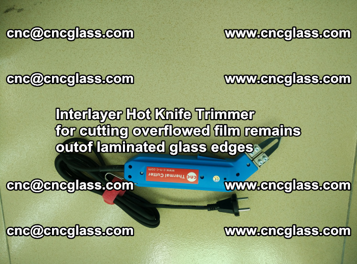 Interlayer Thermal Cutter for trimming overflowed glass interlayer glues after safety glazing (39)